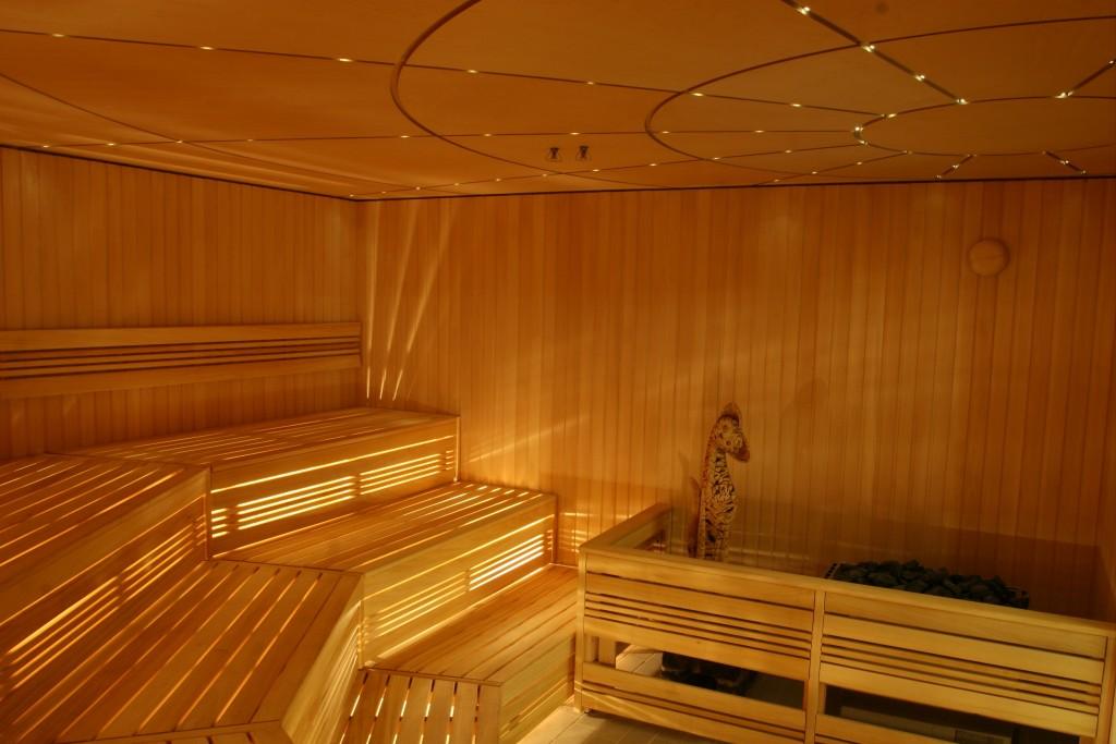 Sauna with steam